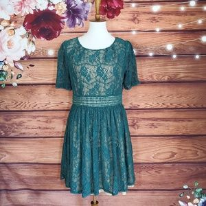Anthro's Darling Green Lace Dress